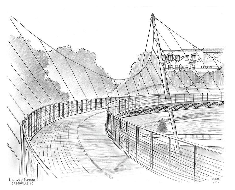 Liberty Bridge Drawing