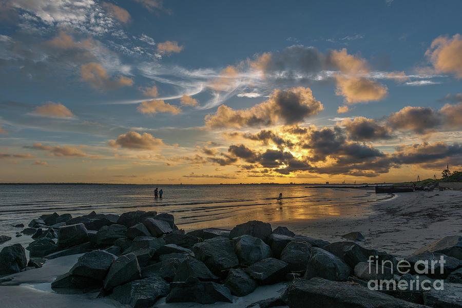 Sullivans Island - Beach Sunset Photograph