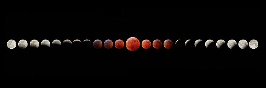 Super Blood Wolf Moon Eclipse Photograph