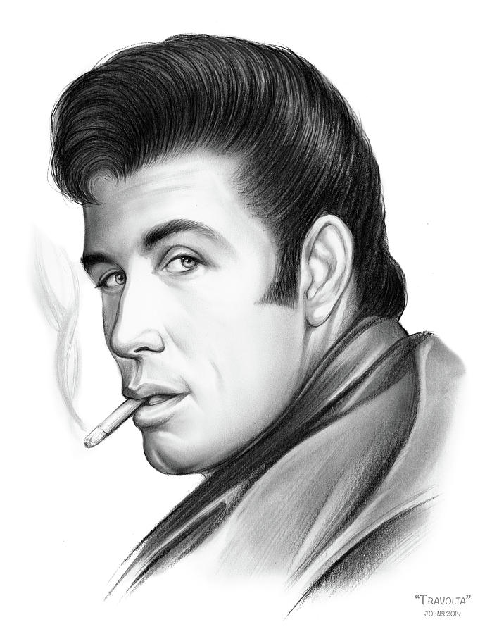 Travolta Drawing