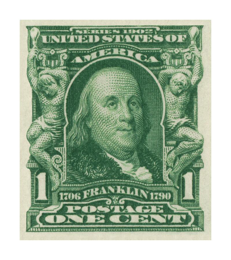 1902 Franklin Stamp Digital Art