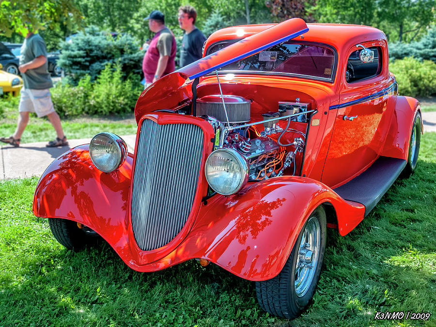 1934 Ford 3 Window Coupe Hot Rod Photograph