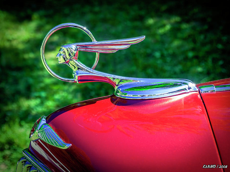 1934 Pontiac Softail Hood Ornament Digital Art