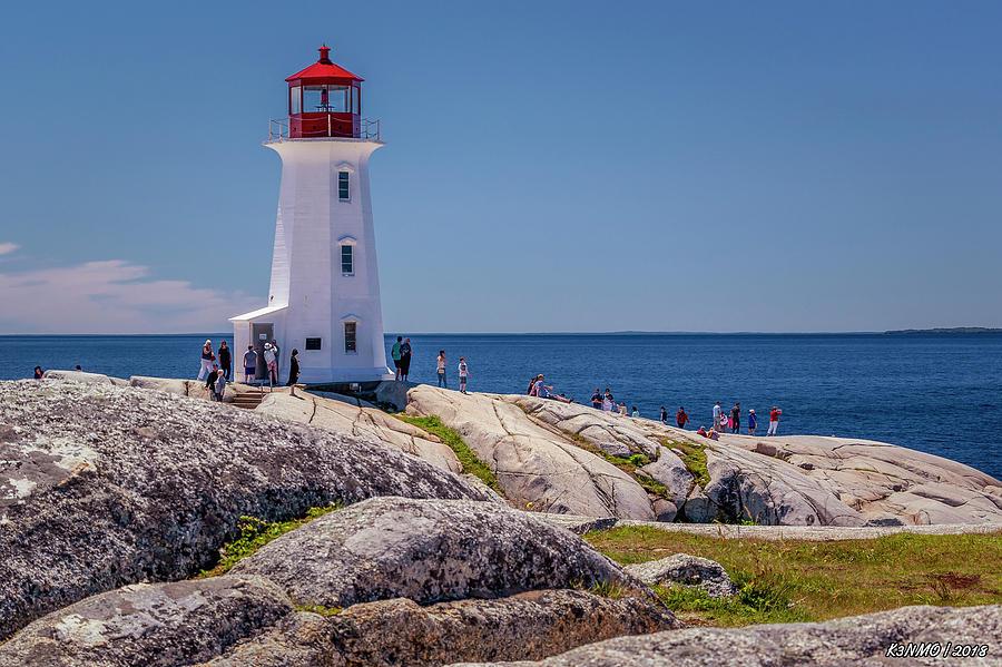 Peggys Cove Lighthouse Digital Art