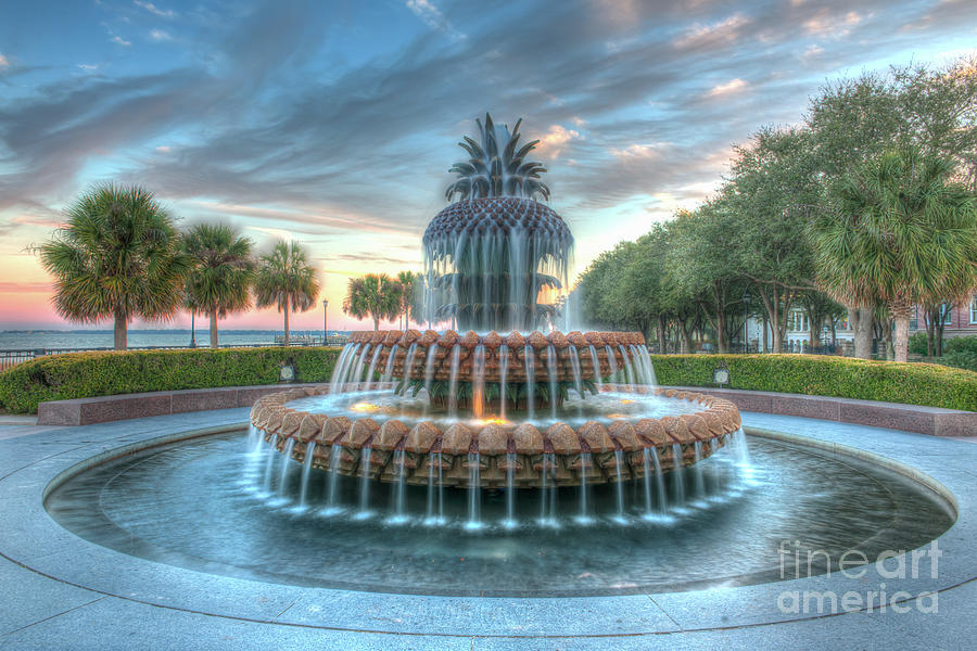 Pineapple Sunset Over Charleston South Carolina Photograph