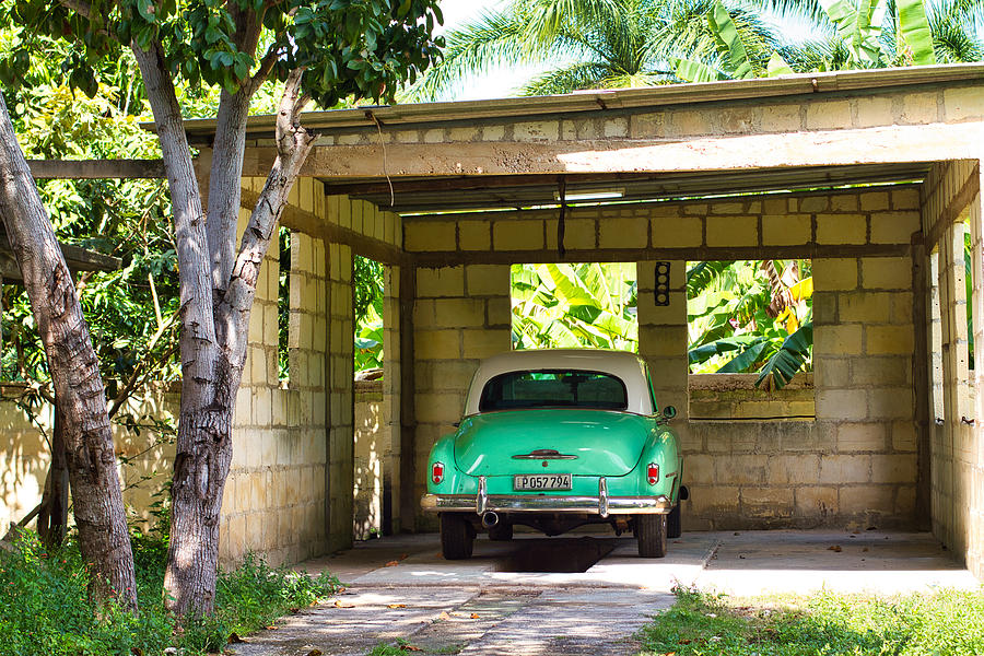 52 Chevy In Carport Photograph