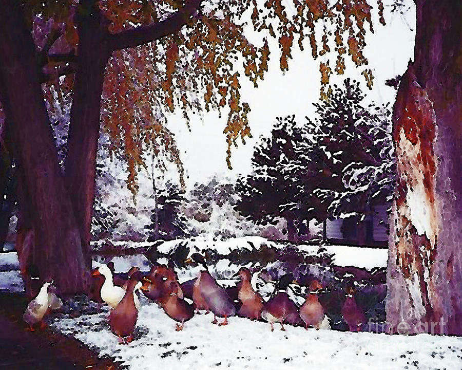 A Gaggle Of Geese 300 Painting