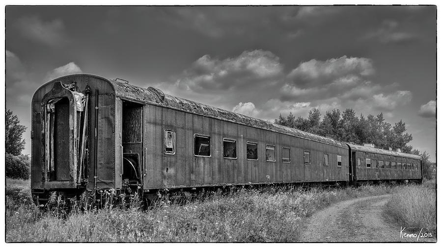 Abandoned Railroad Car In Rural New Brunswick Photograph