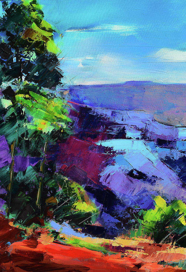 Blue Shades Over The Canyon Painting