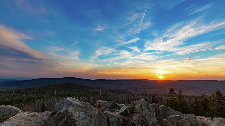Achtermann Sunset, Harz Photograph