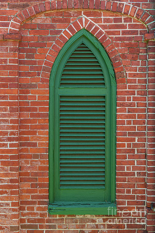 Aiken Rhett House - Charleston Brick Architecture Photograph