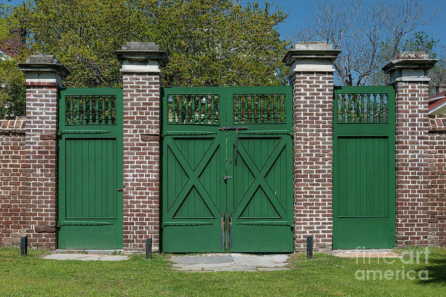 Aiken Rhett House Gate Photograph