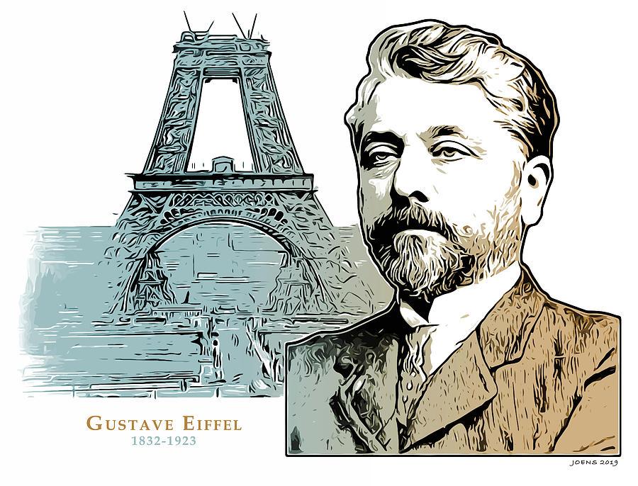 Alexandre Gustave Eiffel Digital Art