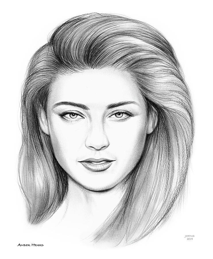 Amber Heard Drawing