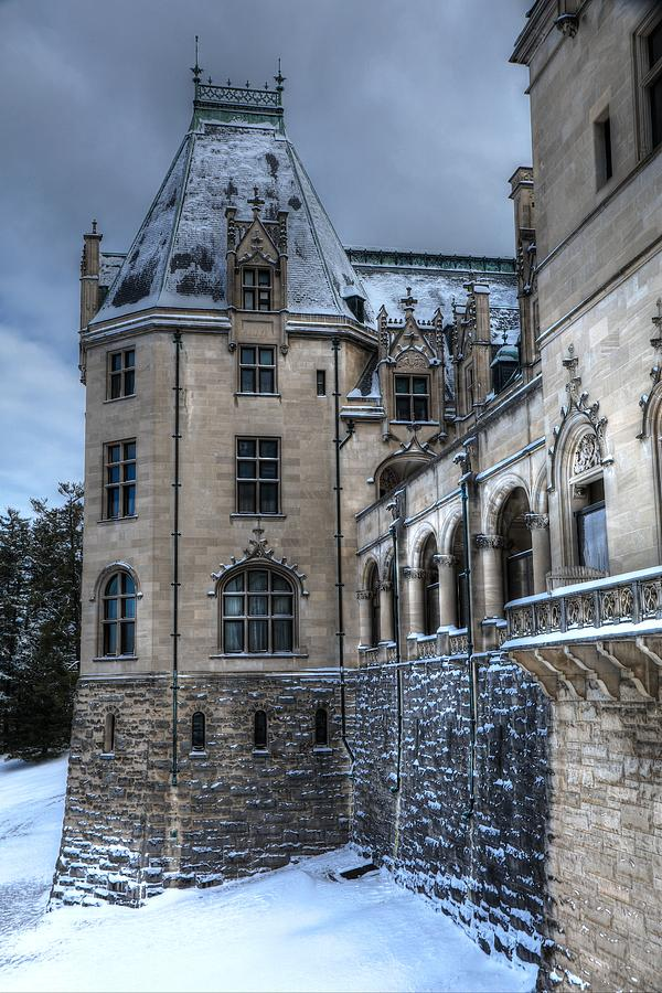 American Castle In Snow Photograph