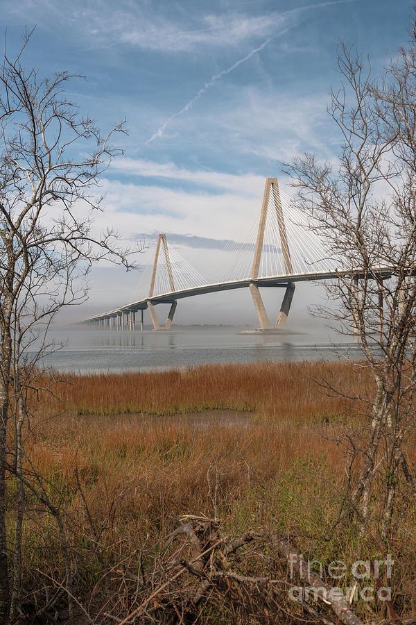 Arthur Ravenel Jr. Bridge - Winter Fog Photograph