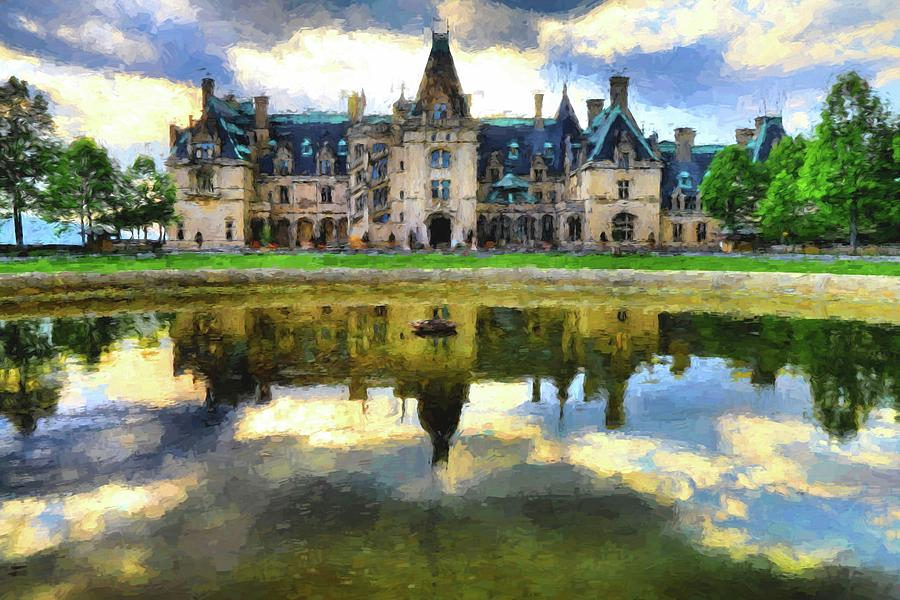 Biltmore Reflection Painting Photograph