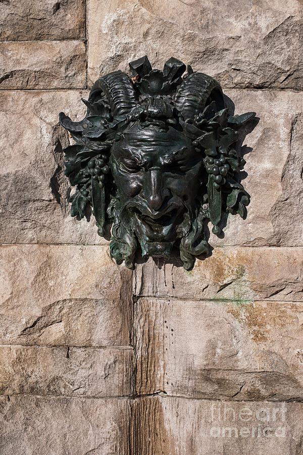 Biltmore Satyr Fountain Photograph