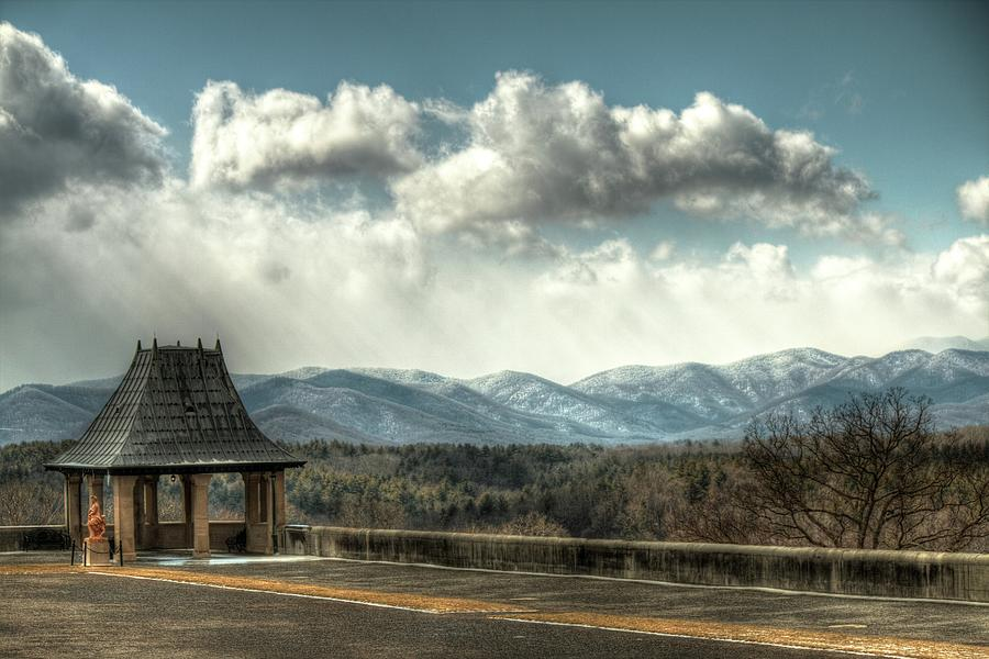 Biltmore Tea House And Storm Clouds Photograph