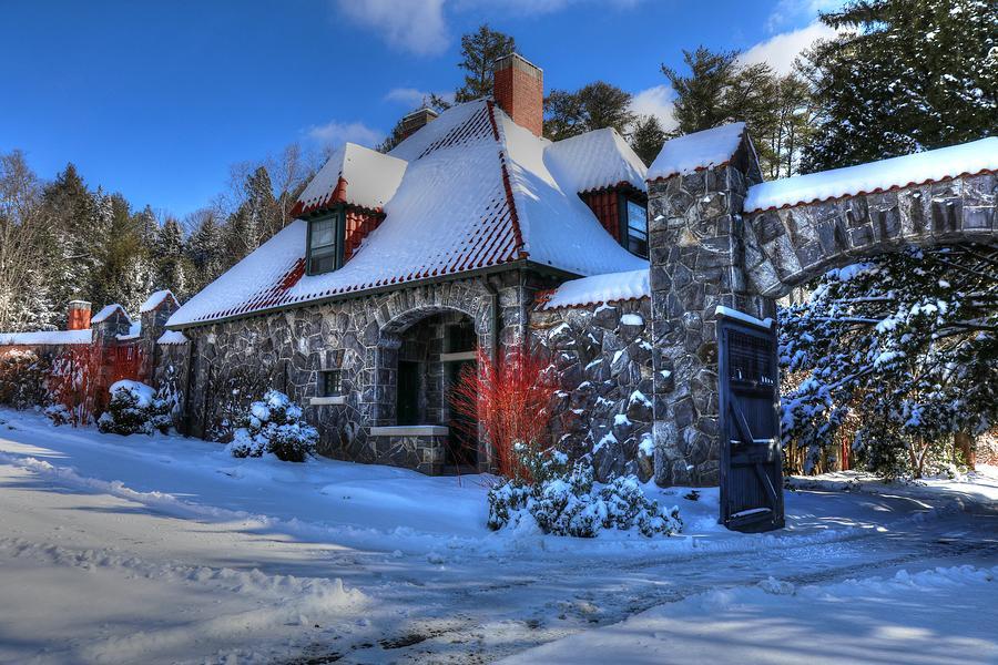 Biltmore Walled Garden In Winter Caretakers House Photograph