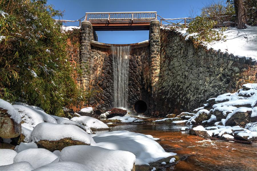 Biltmore Water Fall During Winter Photograph