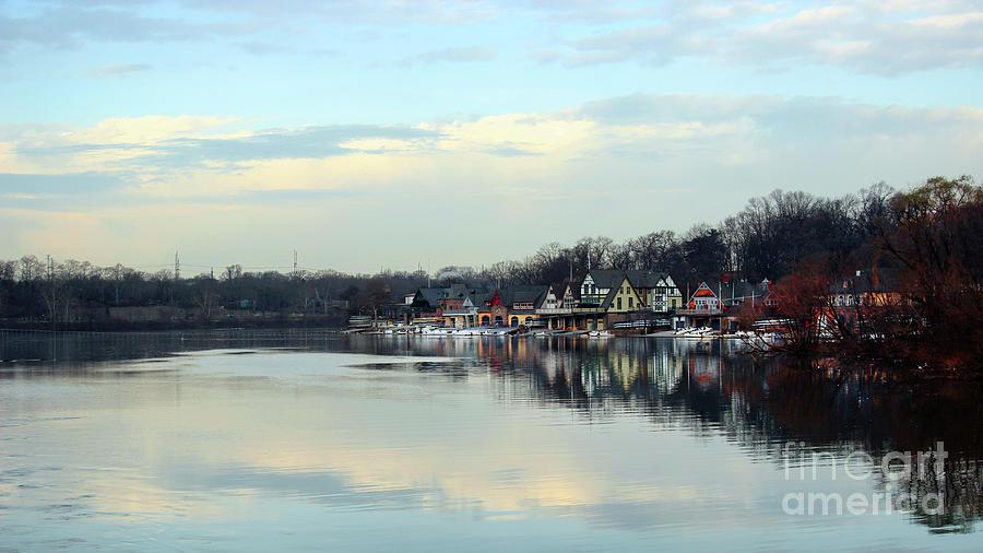 Boat House Row Panoramic Photograph