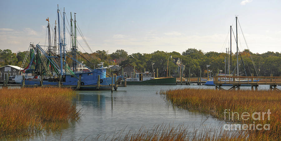 Boating On Shem Creek - Southern Style Photograph
