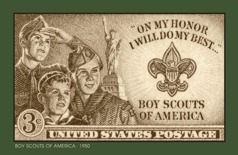 Boy Scouts 1950 Digital Art