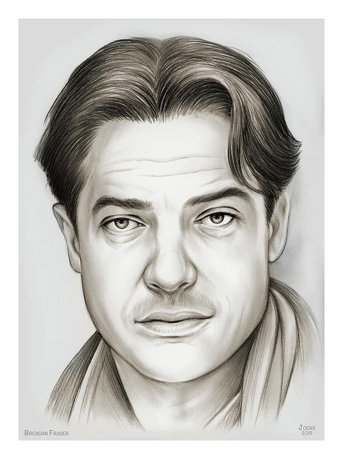 Brendan Fraser Drawing