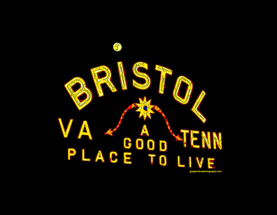 Bristol Sign And The Moon Digital Art