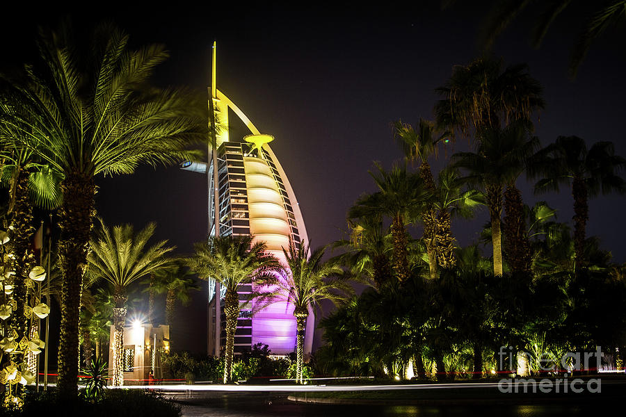 Burj Al-arab In Dubai Photograph