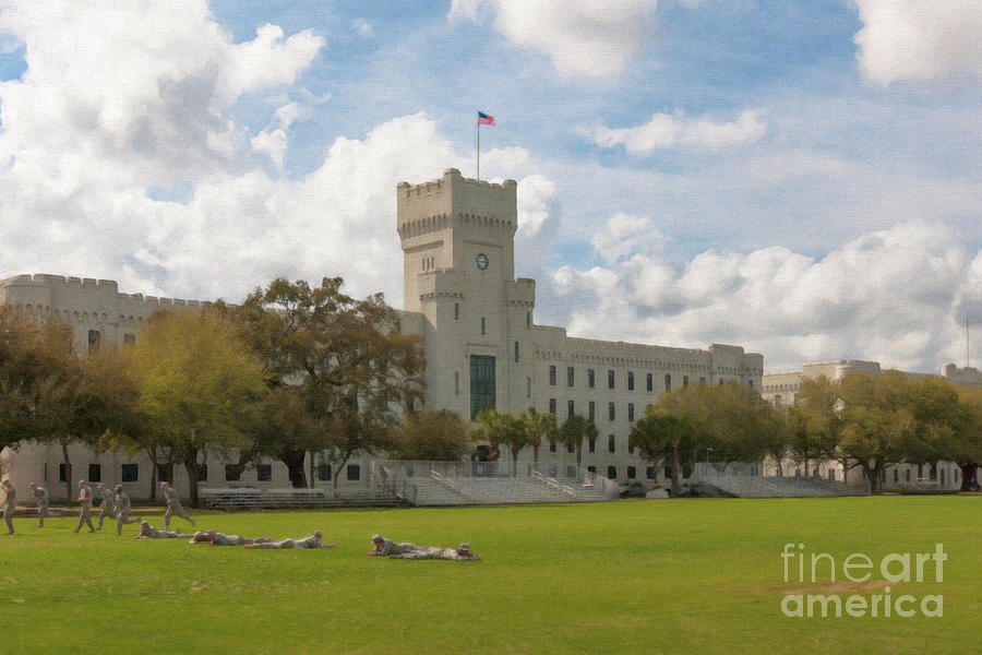 Cadet Drills - The Citadel Military College Painting