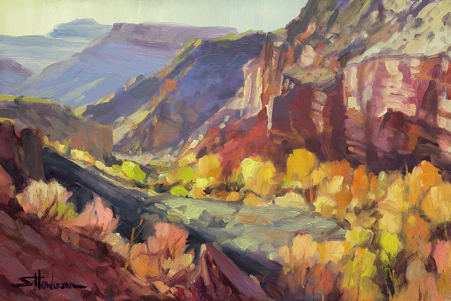 Canyon At Capitol Reef Painting