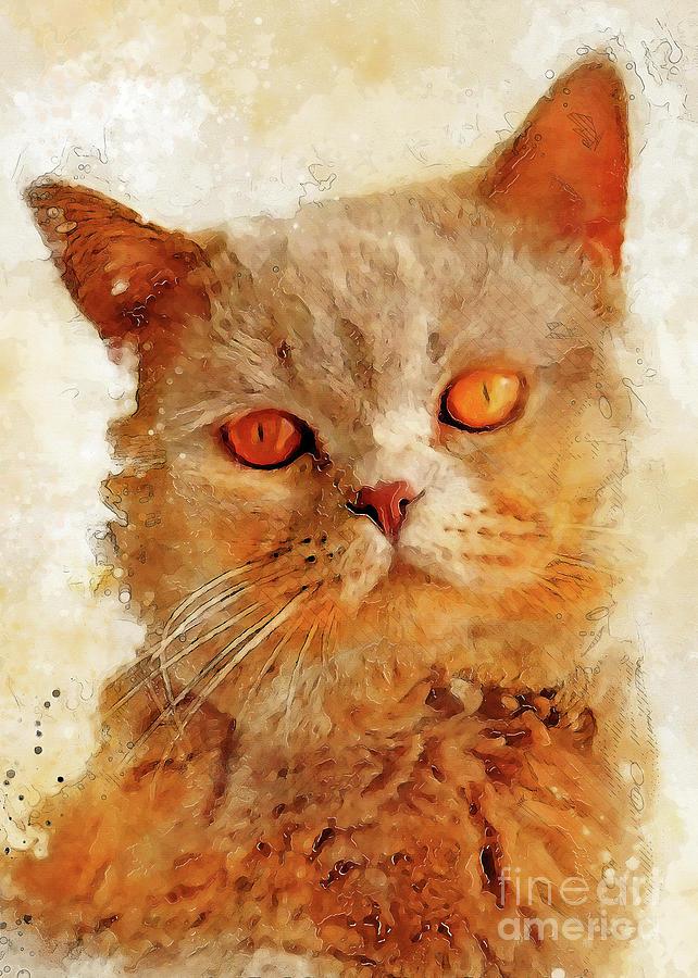 Cat Charlie Digital Art