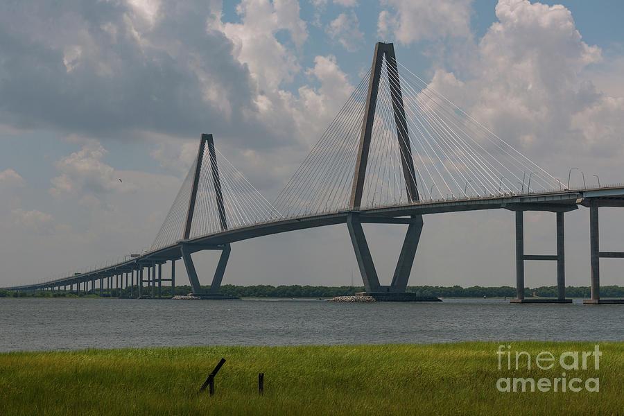 Charleston Bridge Over The Cooper River Photograph