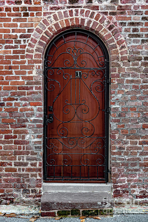 Charleston Iron And Brick Entrance Photograph