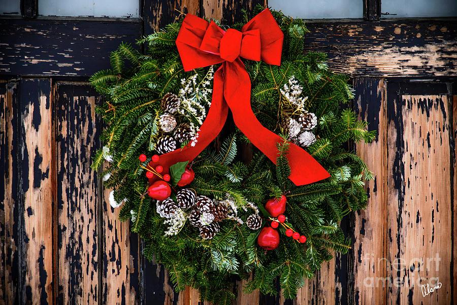 Christmas Wreath Photograph