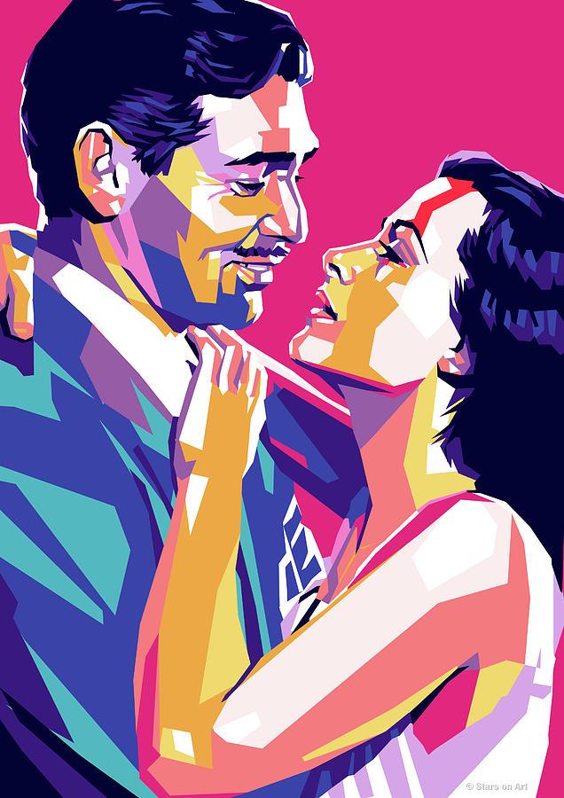 Clark Gable And Hedy Lamarr Digital Art