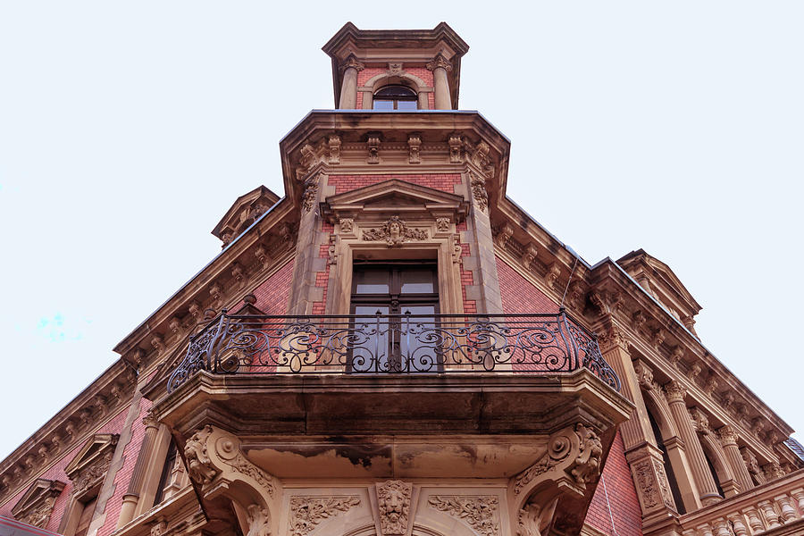 Classicist Red Balcony Photograph