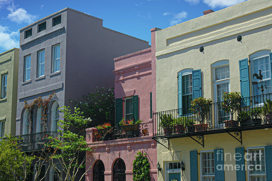 Colored Architecture - Rainbow Row Photograph