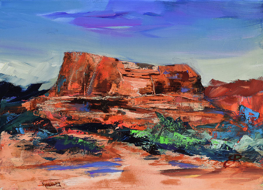 Courthouse Butte Rock - Sedona Painting