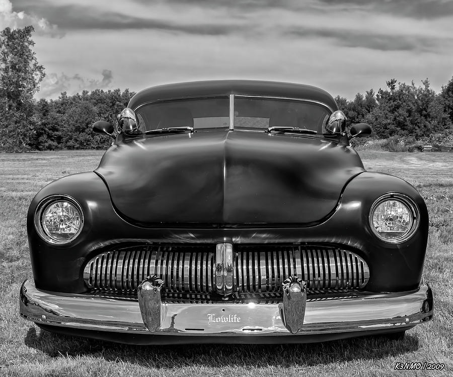 Customized 1950 Mercury In Bw Photograph