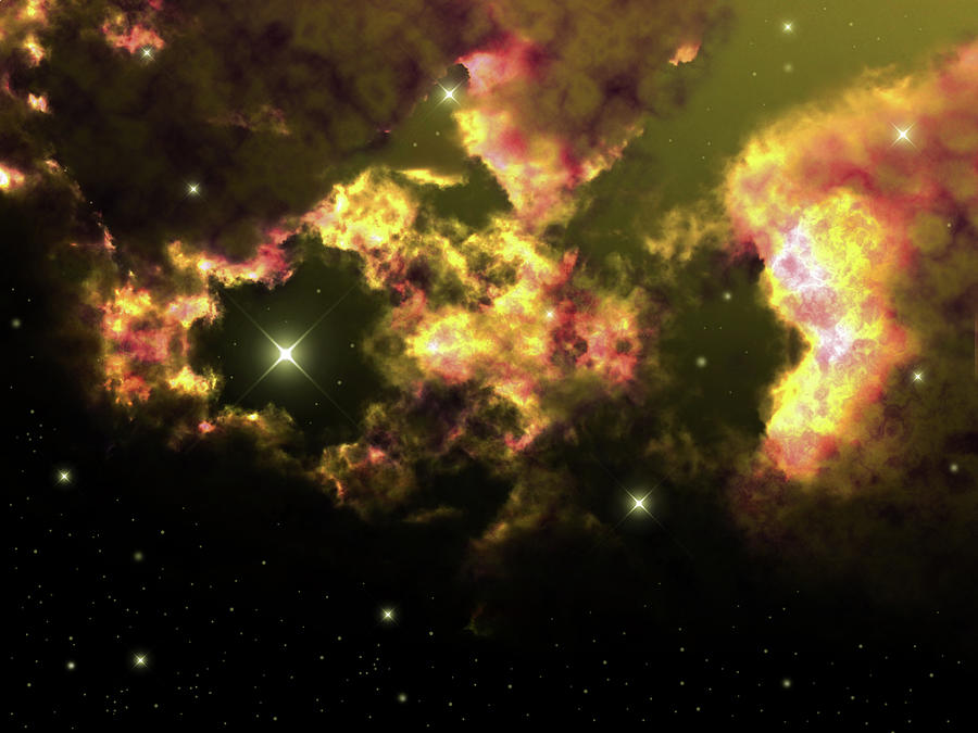 Deep Space Clouds 2 Photograph
