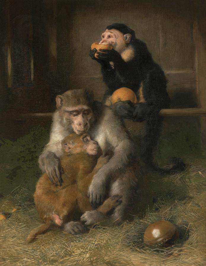 Doctors Visit To Poor Relations At The Zoological Gardens Painting