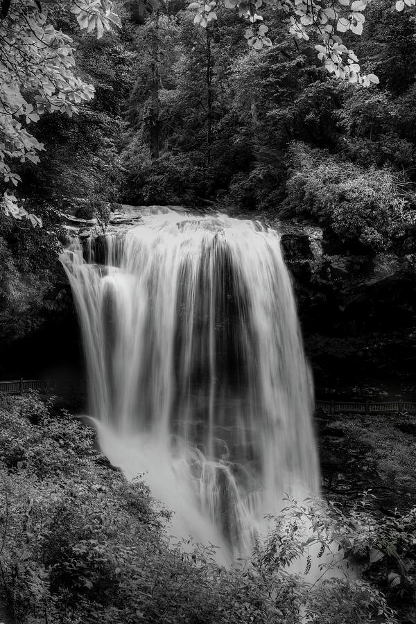 Dry Falls Is Not Dry Black And White Photograph