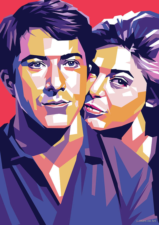 Dustin Hoffman And Anne Bancroft Digital Art