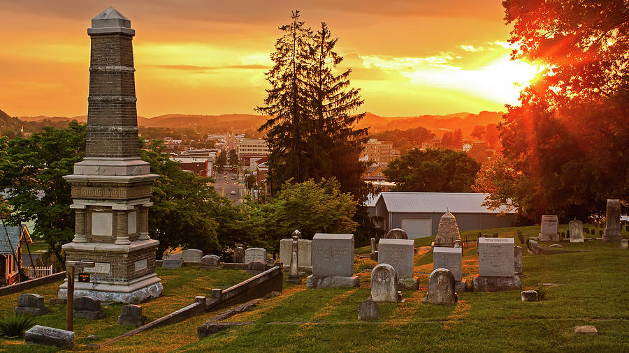East Hill Cemetary At Sunset Photograph