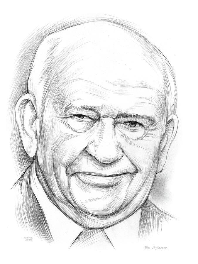 Ed Asner Drawing