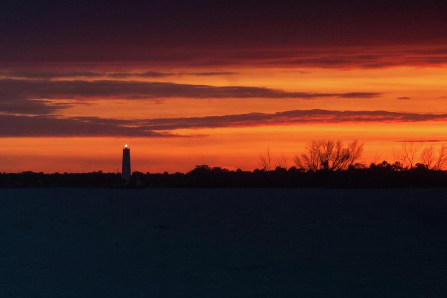 Egmont Key Lighthouse Sunset Photograph