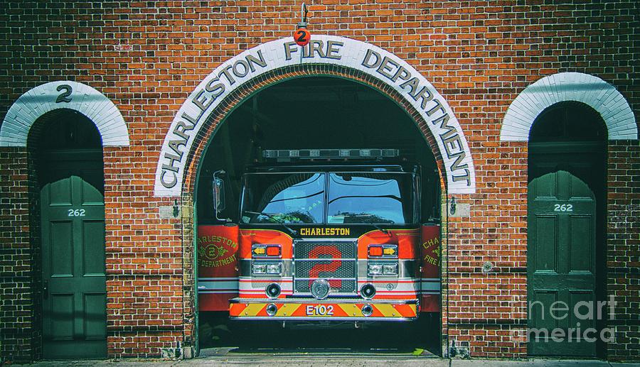 Engine 2 - Charleston Fire Dept Photograph